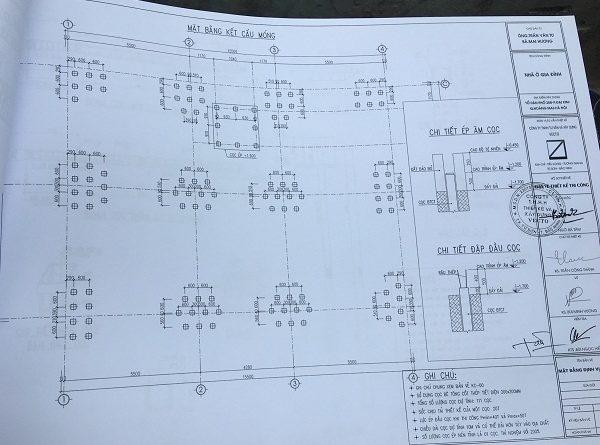 Bản thiết kế kết cấu móng cọc bê tông