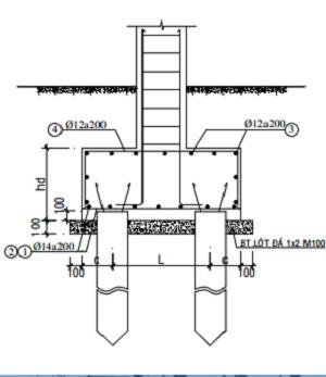 Đài móng cọc bê tông